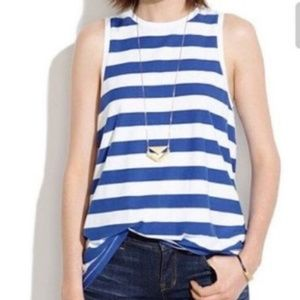 Madewell Blue and White Striped Small Top
